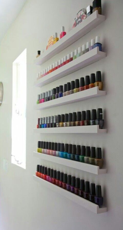 this is very smart if you love nail polish furniture pinterest rangement maison and salle. Black Bedroom Furniture Sets. Home Design Ideas