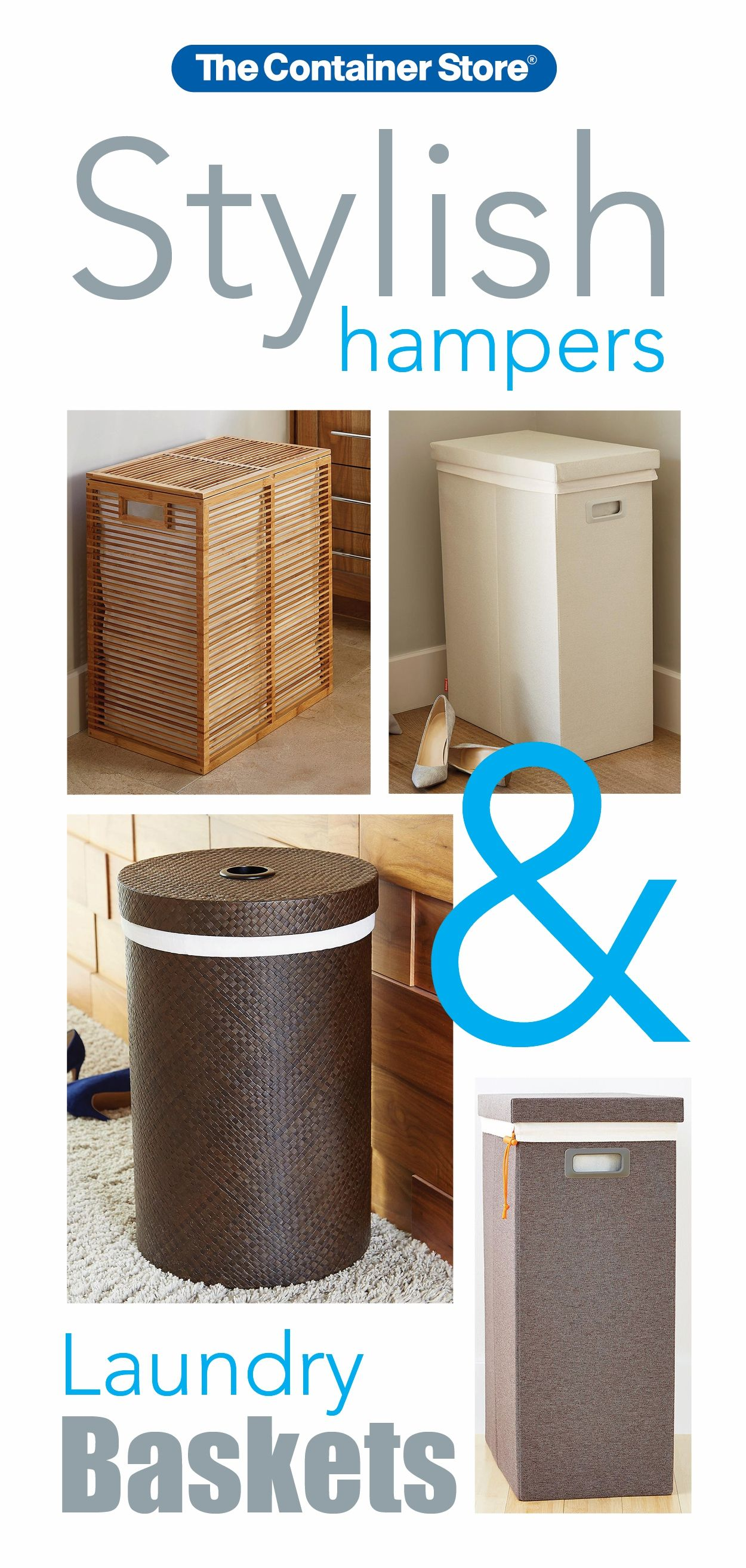 Check Out Our Stylish Hampers And Baskets With Images Laundry Hamper Fabric Storage Bins Grey Laundry Basket