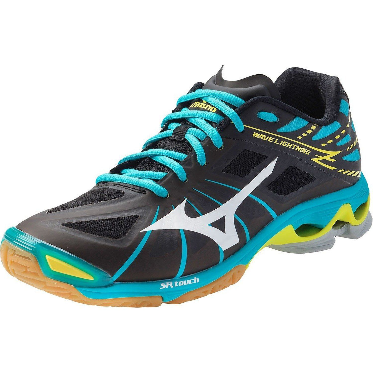 Zapatos Para Mujeres · Mizuno Wave Lightning Z Women's Volleyball Shoes -  Black & Alaskan Blue (Woman's ...