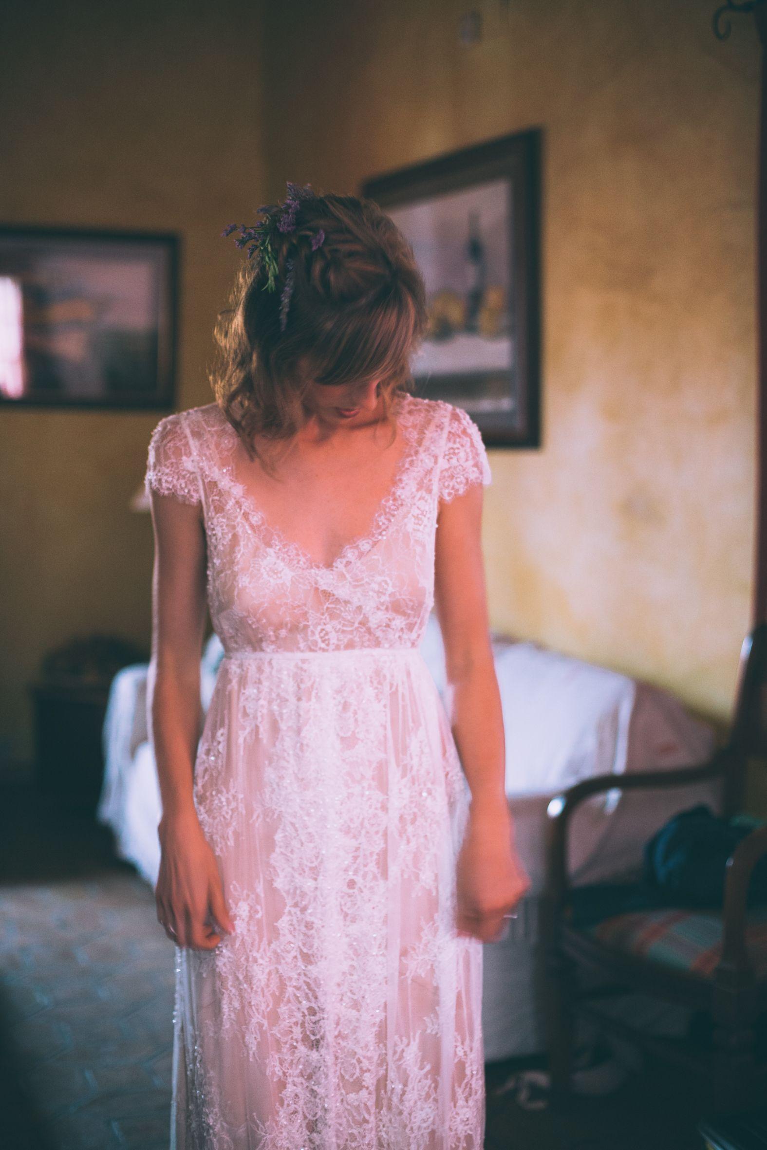 Novias Immaclé 2016. Nuria con vestido de la colección de novias ...