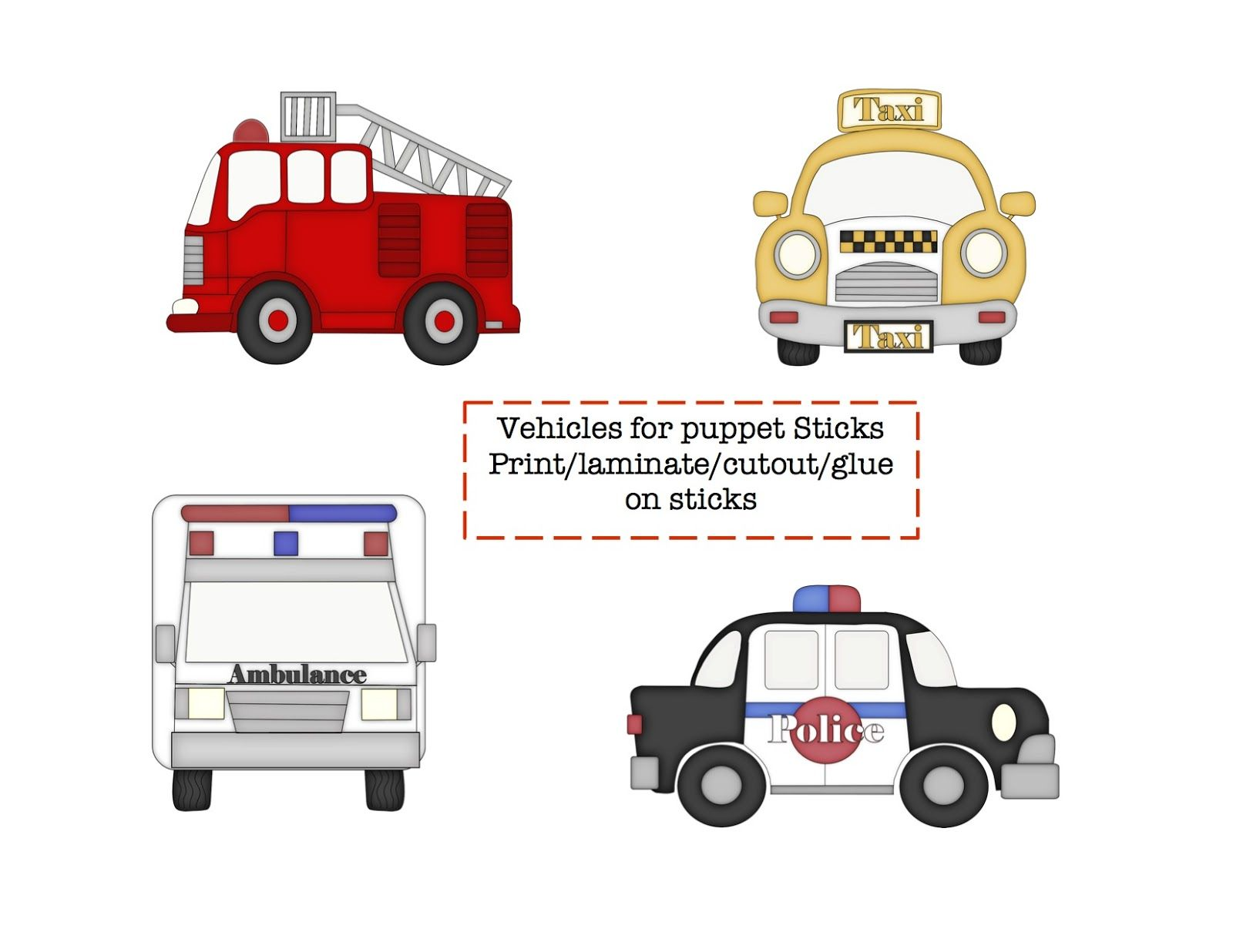 preschool printables little vehicles printable preschool community helpers community. Black Bedroom Furniture Sets. Home Design Ideas