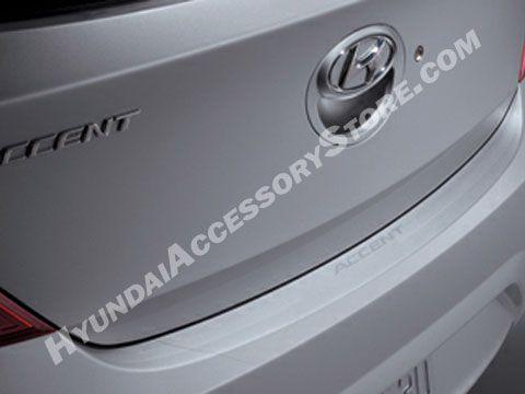 A Gary Rome Hyundai Site 1 800 852 4216 2012 15 Hyundai Accent Rear Bumper Applique Hyundai Accent Hyundai Bumpers