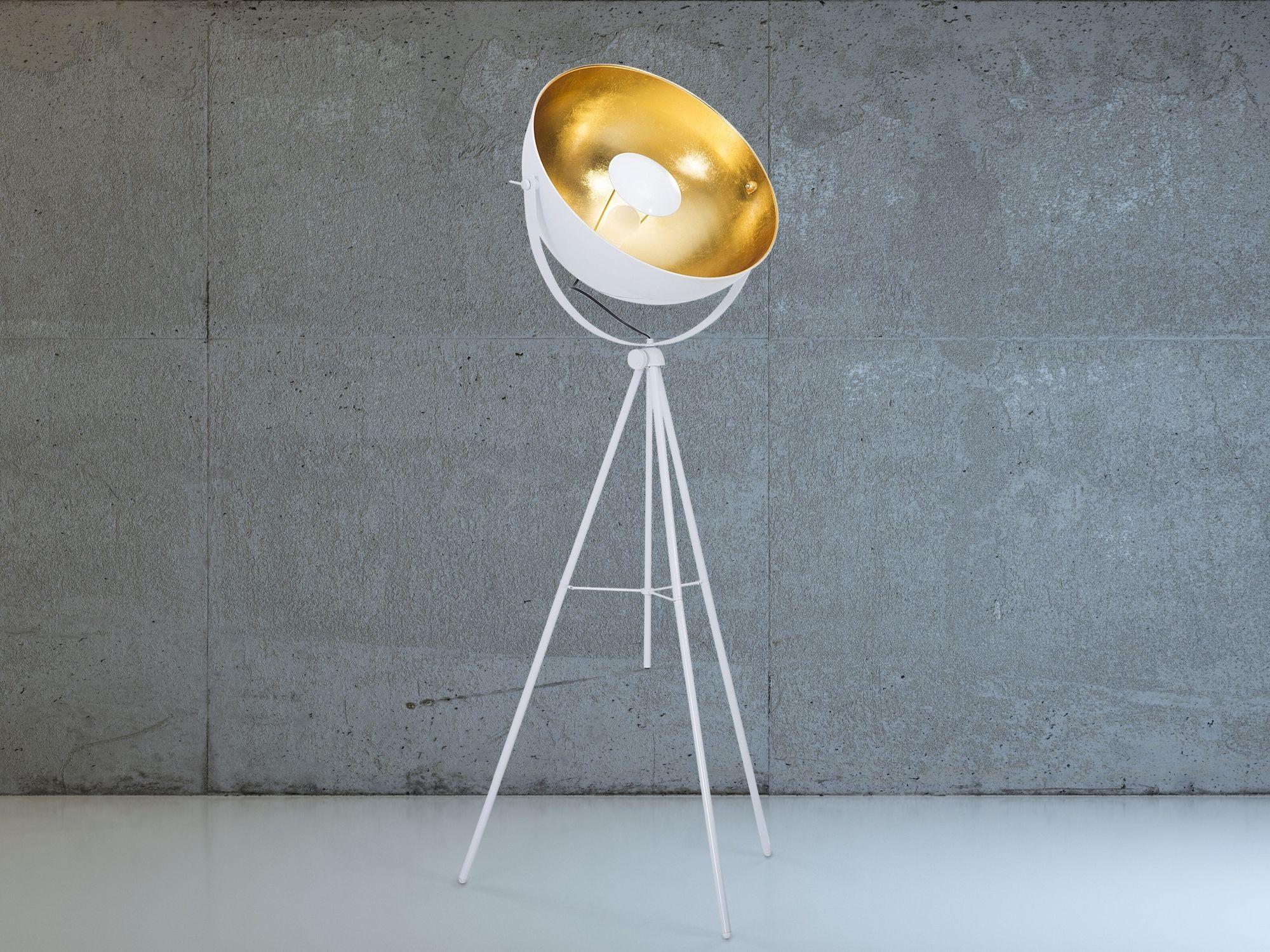 Staande lamp wit - Stalamp - Leeslamp - Verlichting - THAMES ...