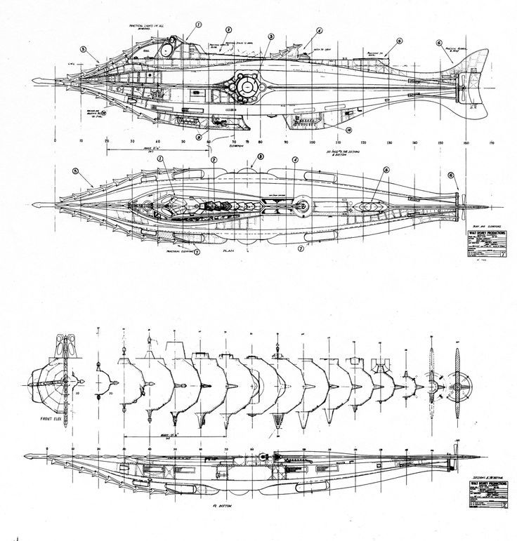 Interior Nautilus Disney Blueprints