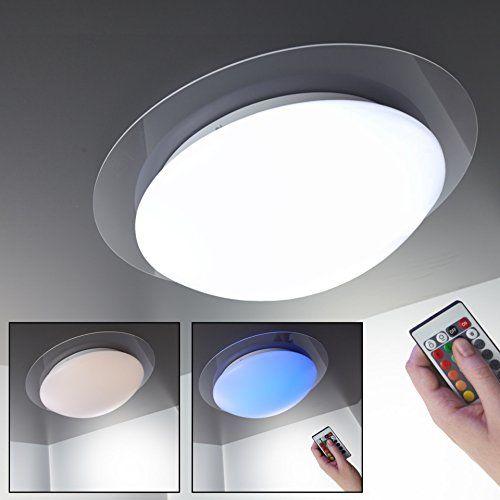LED Deckenleuchte Dimmbar 16 Farben Inkl LED-Plat Amazon Pinterest - Led Einbauleuchten Küche