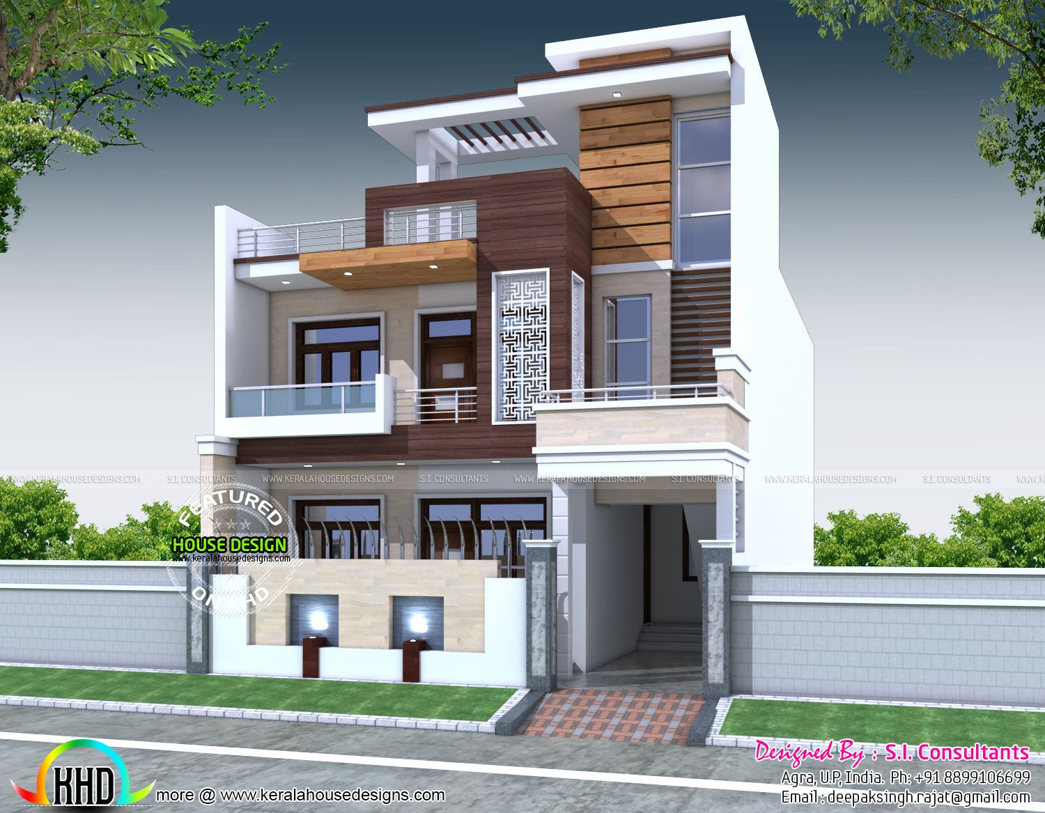 Decorative 5 Bedroom House Architecture House Front