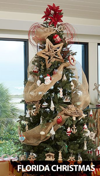 Florida Christmas Decorations... at Bealls. Featured on Beach Bliss  Designs: http - Beach Christmas Decor Galore At Bealls Christmas Trees & Ornaments