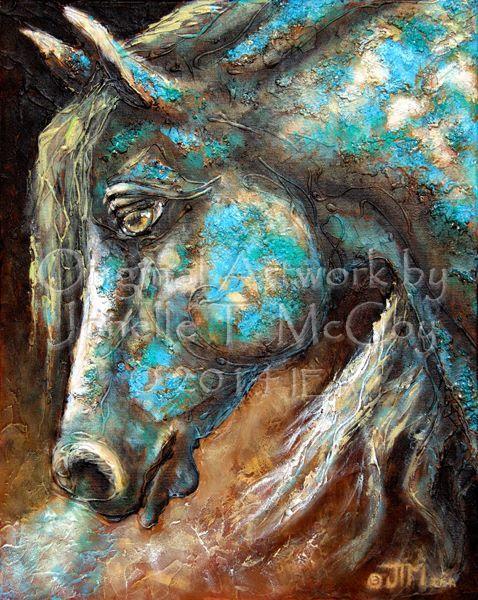 Equine Artists International - Contemporary Fine Art International: Art by Oklahoma Abstract Contemporary Equine Artist Jonelle T. McCoy