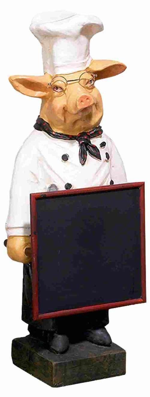 """23"""" Pig French Fat Chef W/ Chalk Board Menu Sign Board"""
