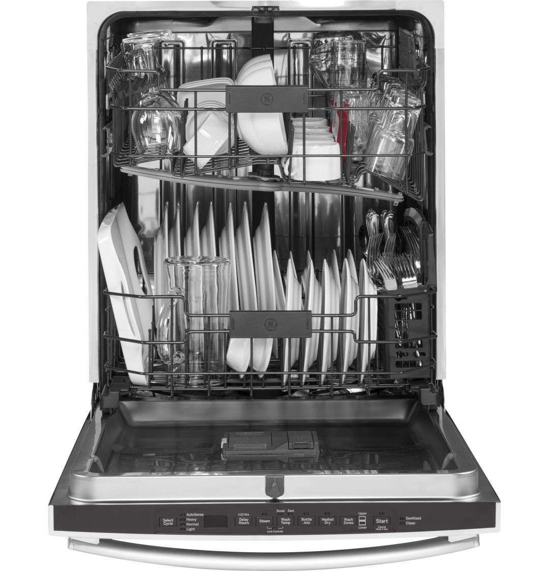 Ge Gdt655ssjss Built In Dishwasher Steel Tub Stainless Steel