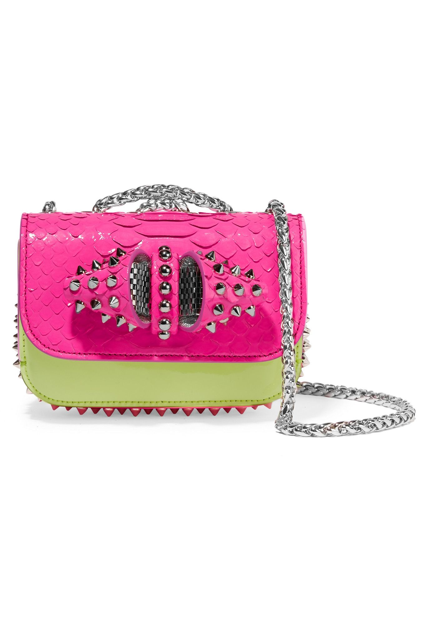 397e33b1e01 Women's Sweet Charity Mini Python And Leather Shoulder Bag ...