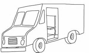 U Free Printable UPS Delivery Truck Coloring Page