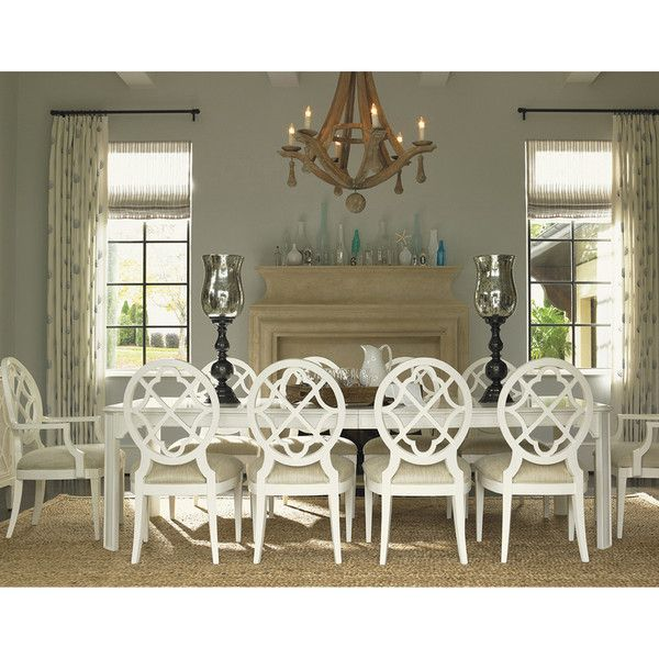 Tommy Bahama Ivory Key Castle Harbour Rectangular Dining Table 543 877 Side Chairs Dining Dining Room Furniture Dining Room Sets