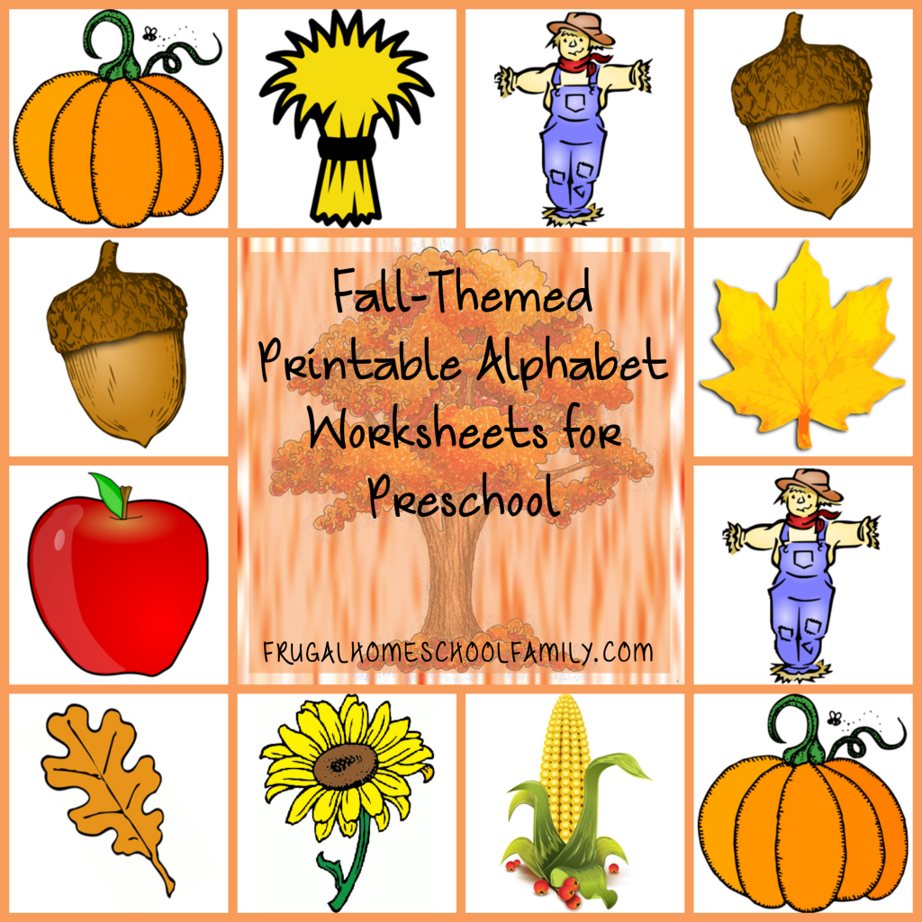 Free Fall Themed Printable Alphabet Worksheets For