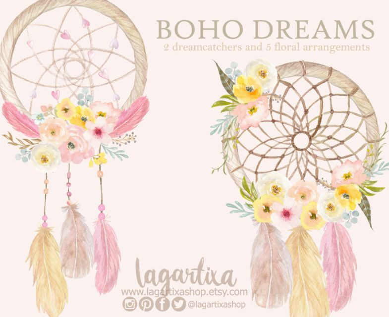 14++ Boho dreamcatcher clipart info