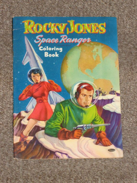 Rocky Jones space ranger coloring book by stuffinthetrunk on Etsy, $45.00