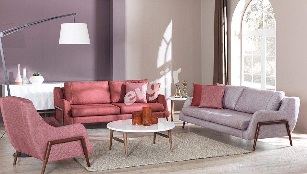 Mazora Ahsap Ayakli Koltuk Takimi Sofa Furniture Home
