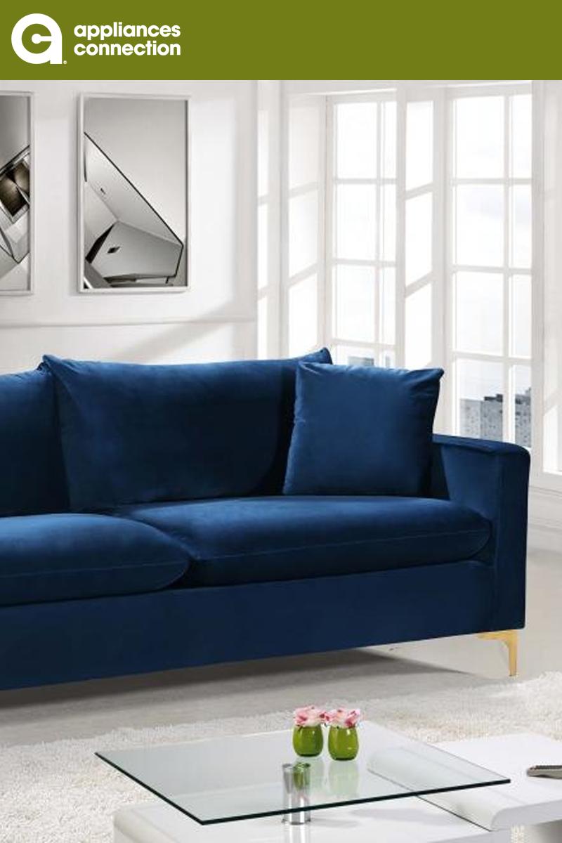 Meridian 633navys 813 15 Love Seat Contemporary Sofa Fabric Sofa