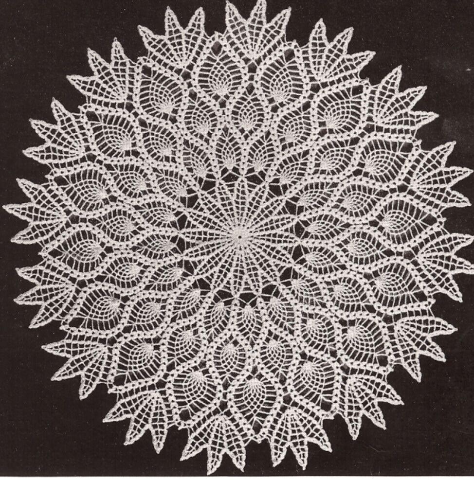 Vintage Crochet Pineapple Doily Centerpiece PATTERN | Pinterest ...