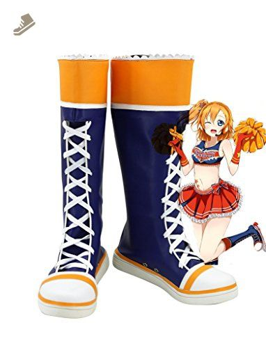 Lovelive! Love Live Cheerleaders Honoka Kousaka Cosplay Shoes Boots Custom Made