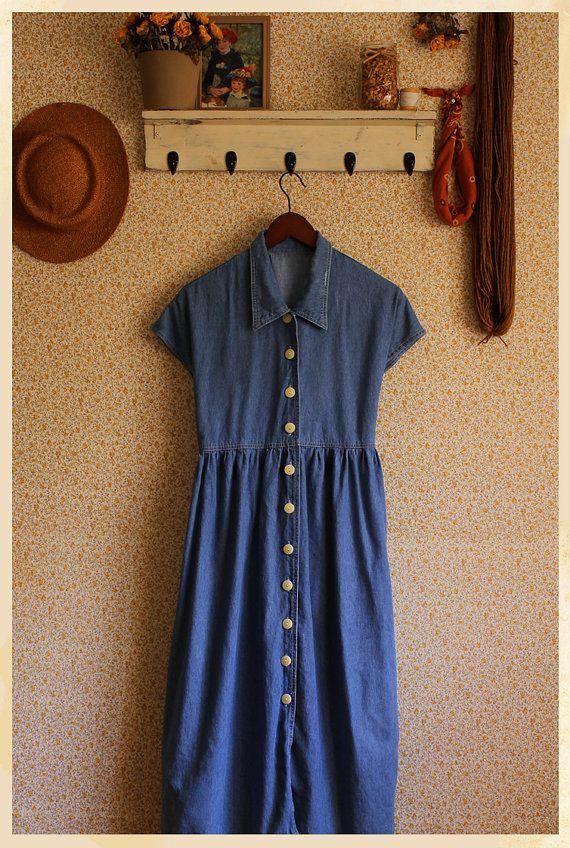 The Shirley Denim Vintage Dress via Etsy