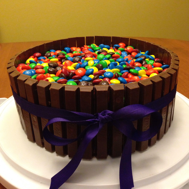Woohoo! I did it! When Kitkat's and M&M's hug a chocolate