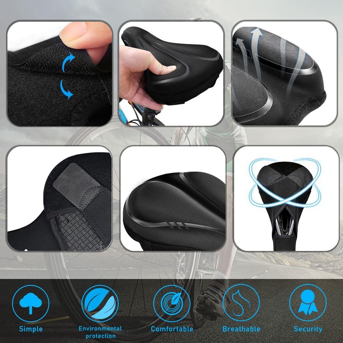 Sampow Premium Bike Gel Seat Cushion Cover Most Comfortable