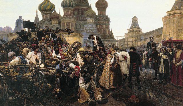 Surikow, Wassilij Iwanowitsch - Am Morgen der Strelitzenhinrichtung. 1881 | Flickr - Fotosharing!