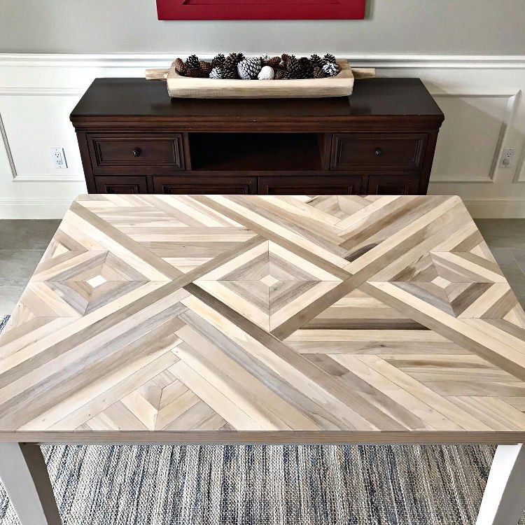 Diy geometric wood table top how to steps wood table