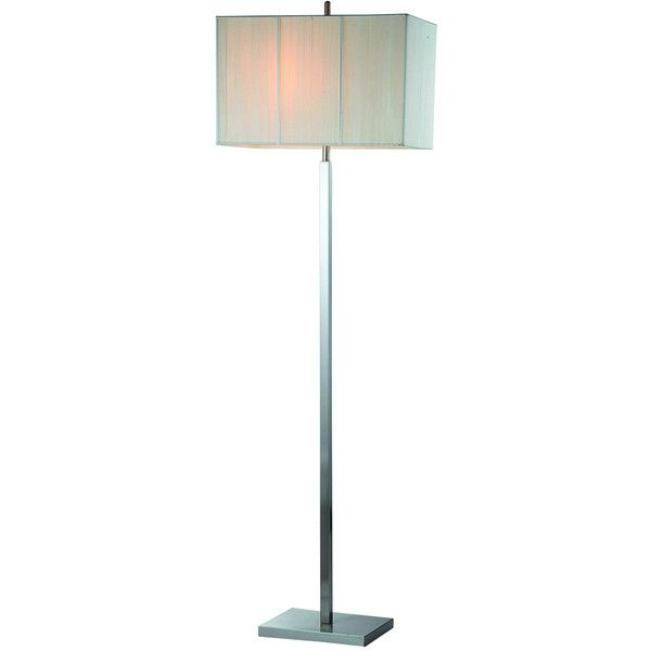 Modern Rectangular White Linen Shade Floor Lamp 210 Liked On