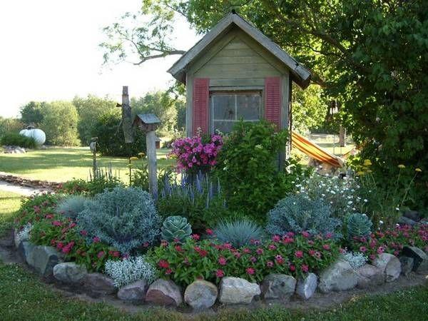 Stone garden edging ideas backyards pinterest edging ideas stone garden edging ideas workwithnaturefo