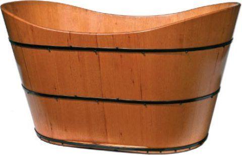 O ofurô oval Gaudi (1,22 m x 77 cm x 70 cm) para uma pessoa é feito de cedro polido. Custa 6 mil reais na Will Arte.