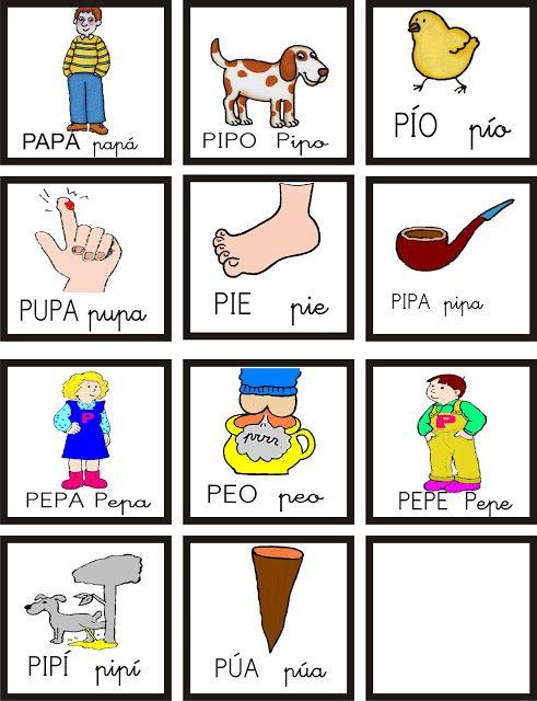 Palabras p para imprimir   http://eraseunavezmiclase.blogspot.com.es/2012/12/jugamos-con-el-senor-panadero.html