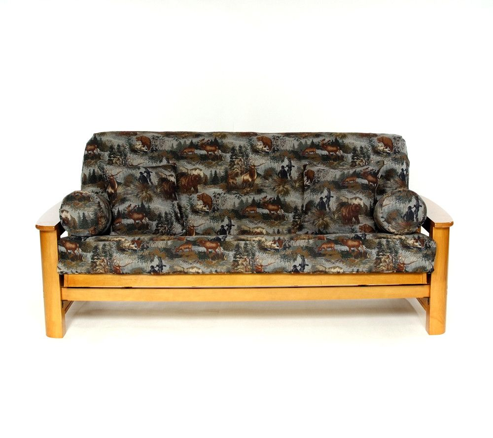 Gone hunting futon slipcover futon slipcover futon box