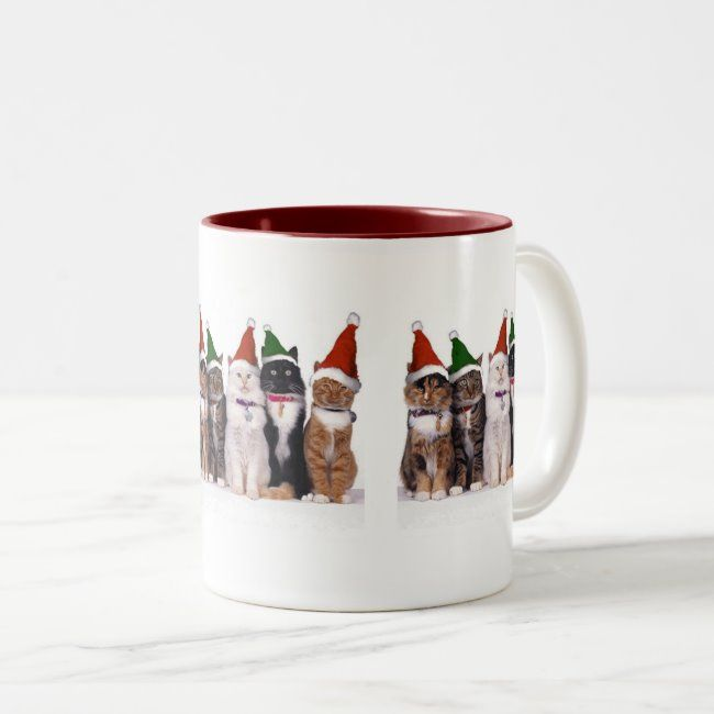 Christmas off cat - Two-Tone coffee mug | Zazzle.com #nationalcoffeedayideas