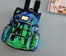 Womens Girls Satchel Tote Sequins Zip Shoulder Backpack Punk Bling Bags Fashion