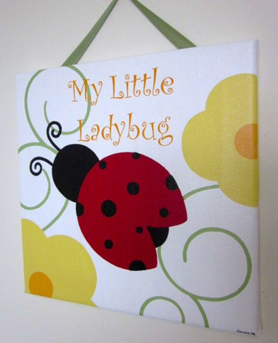 Ladybug Wall Art Print by FrogsAndFairytales on Etsy, $12 ...