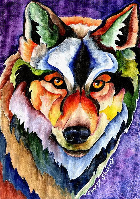Stare Down Art Print by Sherry Shipley