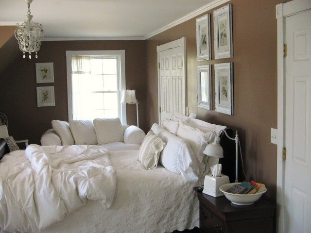 Coffee Coloured Walls For Bedroom White And Brown Bedroom Brown Walls Eclectic Bedroom