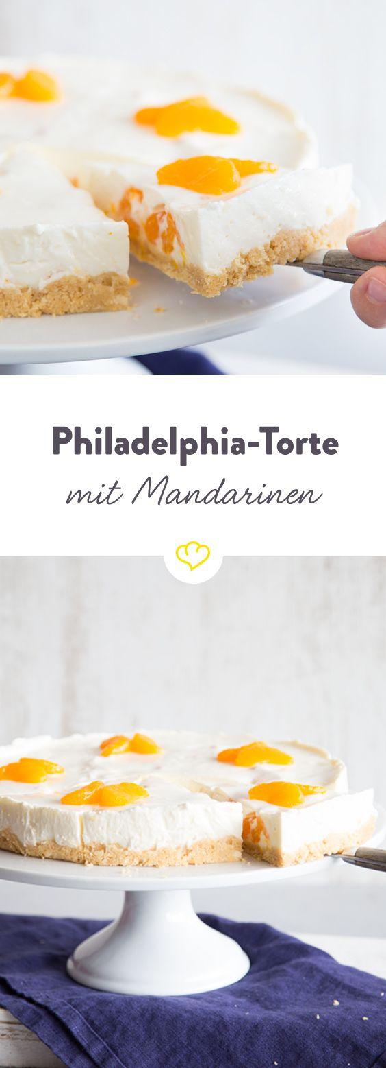 Wenn Mandarinen Zum Star Deiner Philadelphia Torte Werden Rezept Kuchen Und Torten Philadelphia Torte Kuchen