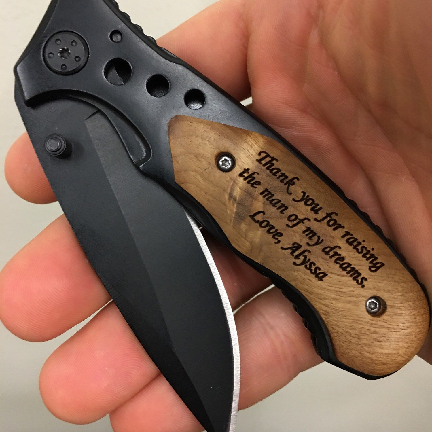 Father Of The Groom Gift Engraved Folding Pocket Knife Personalized Wedding Gifts