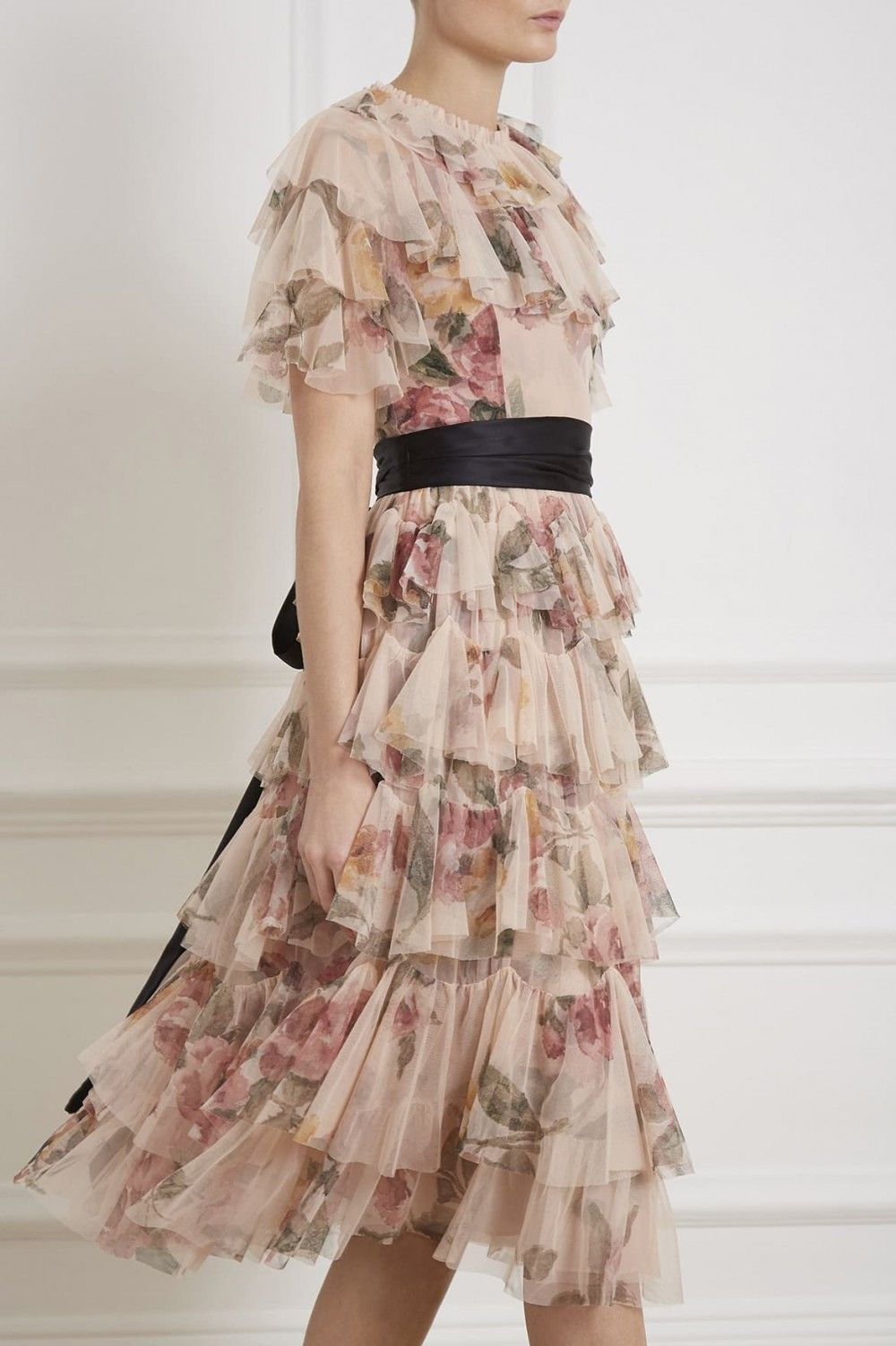 11538fa9f5 Venetian Rose Tulle Dress in Rose Quartz from the Needle & Thread PS19  Collection