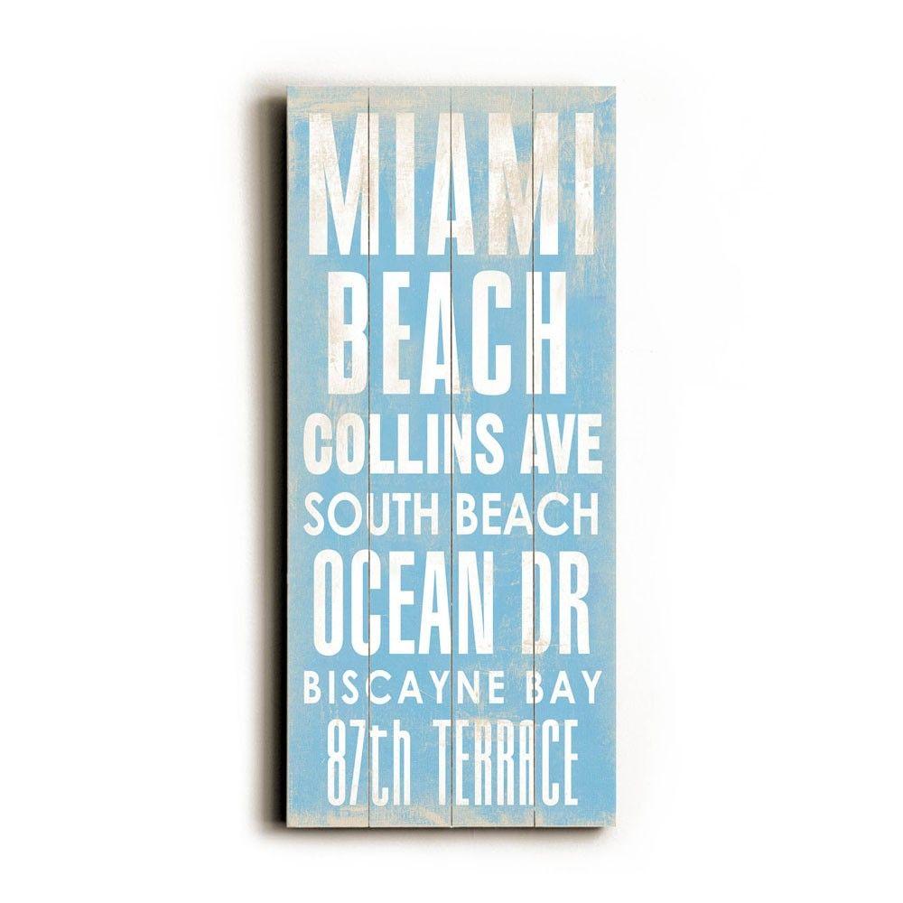 Miami Beach Transit Sign Transit Sign Beach Wall Decor Miami Beach