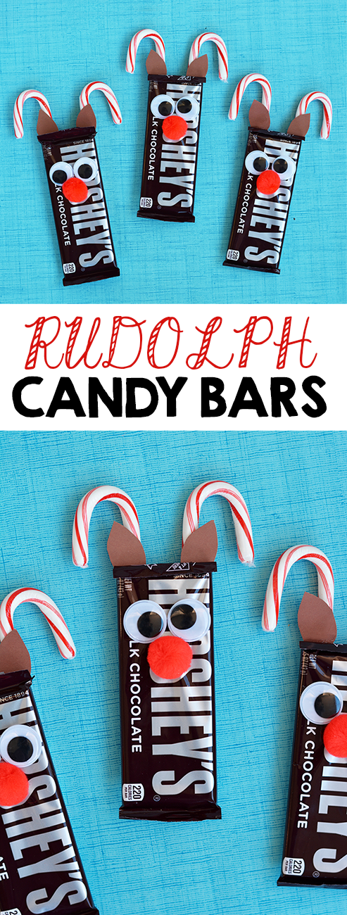Rudolph Reindeer Candy Bars I Heart Arts N Crafts Christmas Diy Homemade Christmas Diy Christmas Gifts