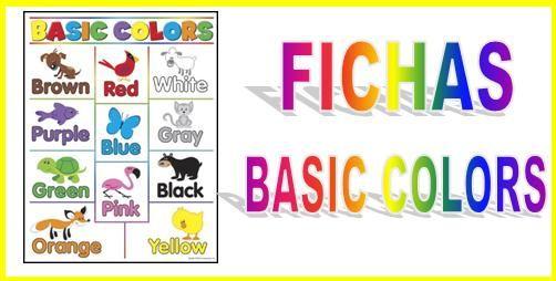 Colors: Colores en #inglés Repaso a los colores en Inglés. Fichas ...