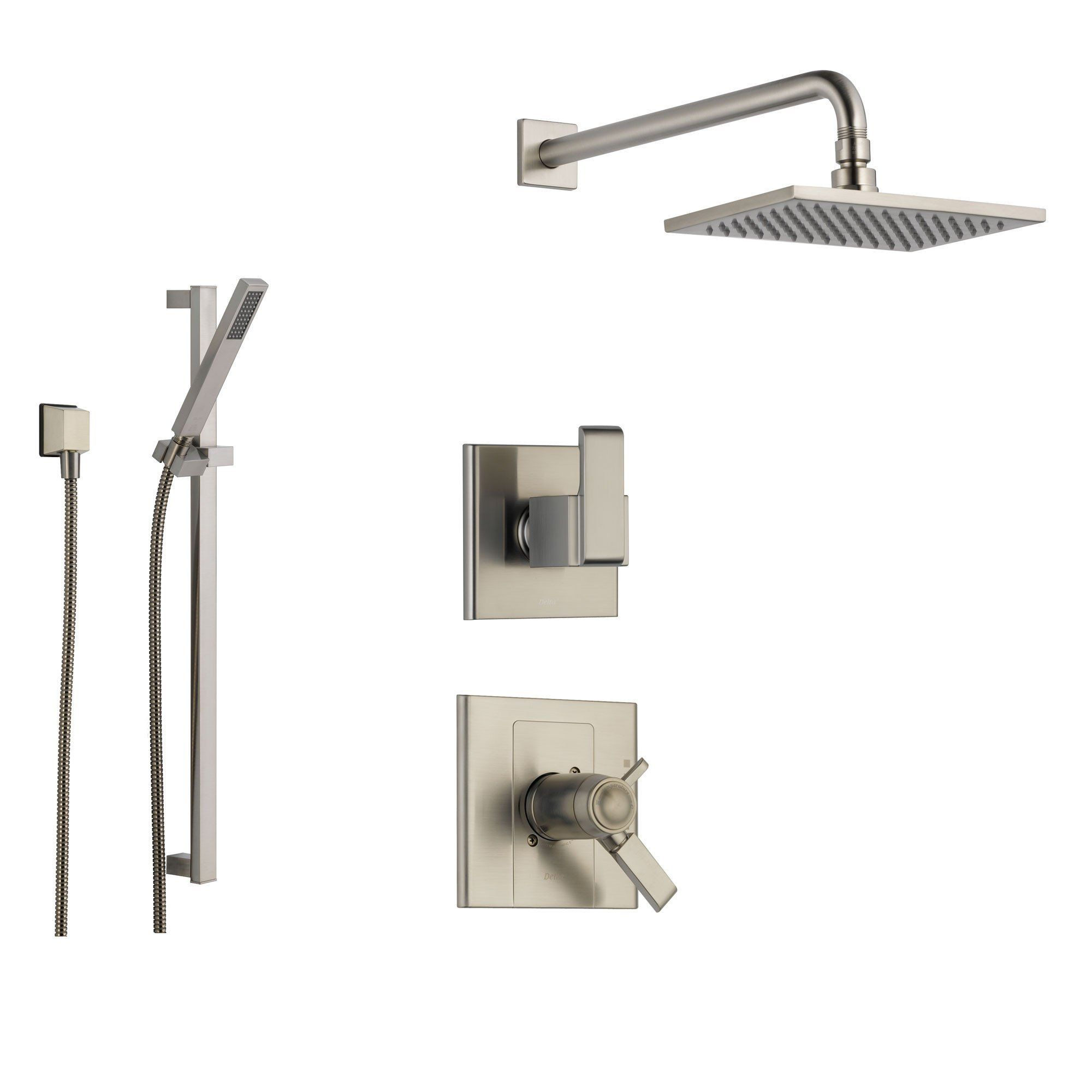 Delta Arzo Stainless Steel Shower System With Thermostatic Shower