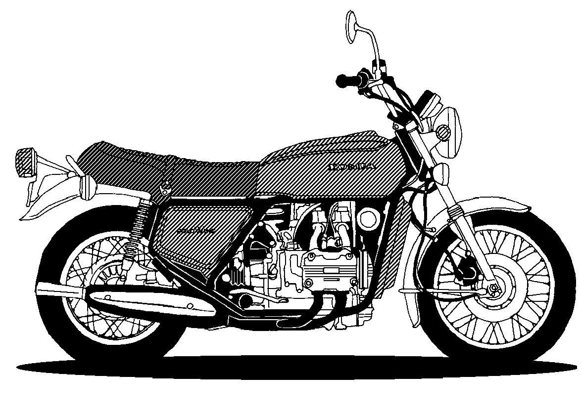 honda motorcycle clipart  Honda GL 1000 | Projects to Try | Pinterest | Honda and Trike motorcycle