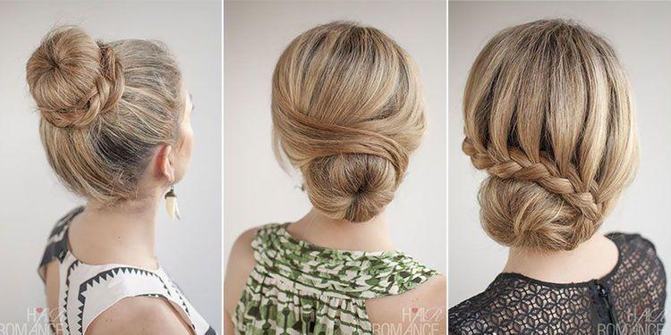 3 coiffures faciles avec un donut | Coiffure facile, Chignon avec donut et Coiffure