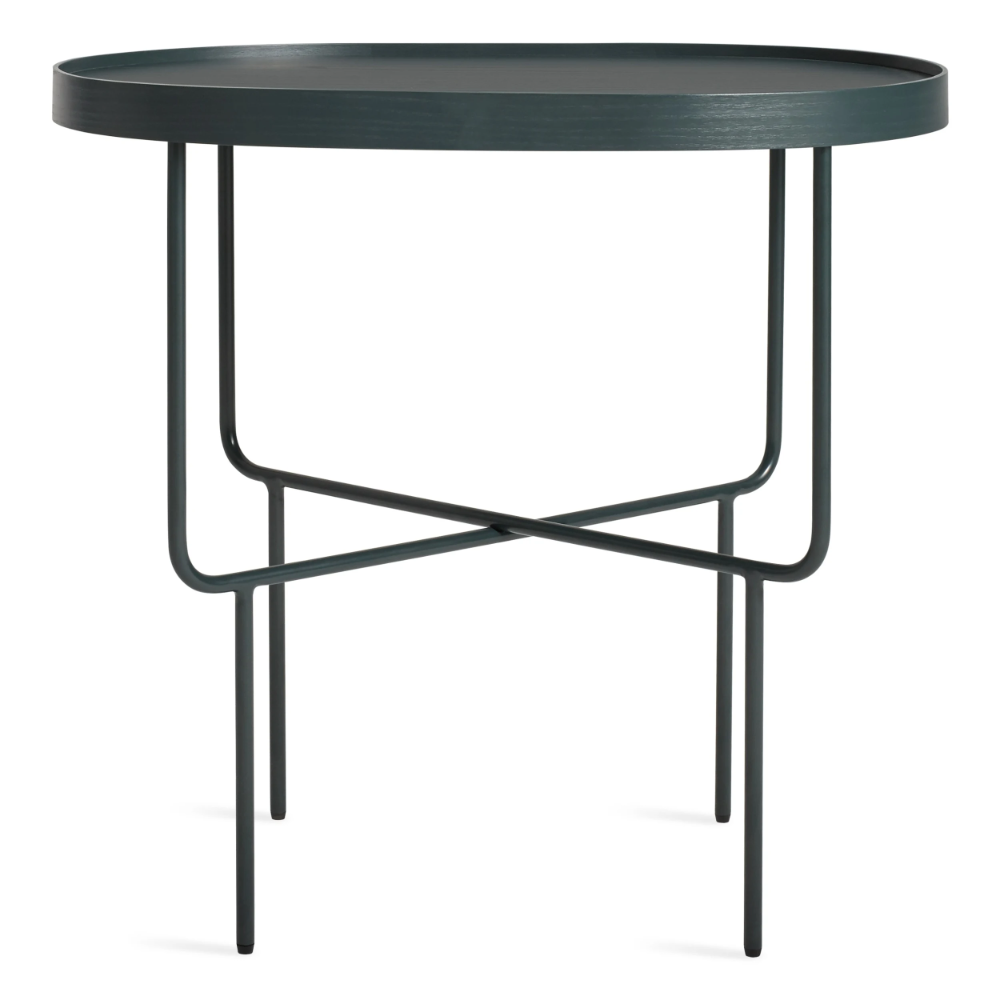 Roundhouse Tall Side Table In 2020 Tall Side Table Modern Accent Tables Round House