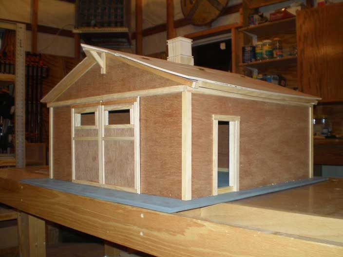 Woodworking project toy barn model of the rolling m for Plans for horse stables